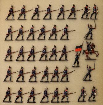 Diverse Hersteller: Infanterie im Vorgehen, 1871 bis 1918