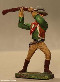 Elastolin: Cowboy kolbenschlagend, 19. Jh.