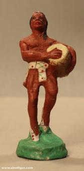 Diverse Hersteller: Indianer tanzend mit Trommel von Hopf, 19. Jh.