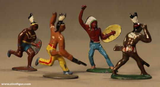 Merten/Berlin: Vier kämpfende Indianer, 19. Jh.