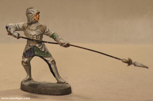 Elastolin: Ritter zu Fuß abwehrend mit Speer, 11. Jh. bis 15. Jh.