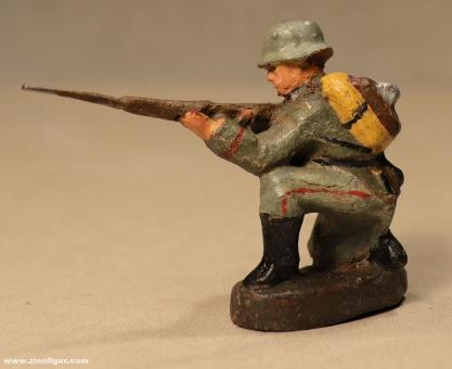 Elastolin: Schütze kniend schießend, 1919 bis 1935