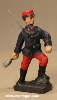 Lineol: Soldat Handgranate werfend, 1914