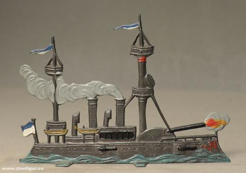 Schweizer, B.: Dampfschiff im Feuer (Kriegsschiff), ab 1860