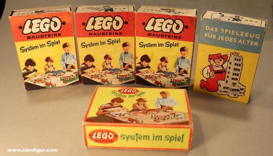 Diverse Hersteller: Lego Verpackungen um 1950/60