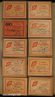 Ochel, Kiel: 10 Ochel Pappschachteln (leer)