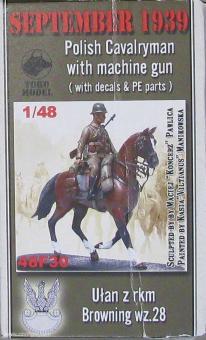 Diverse Hersteller: Kavallerist mit MG zu Pferd, 1939