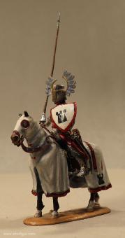 Peipp: Topfhelmritter zu Pferd im Halt, 11. Jh. bis 15. Jh.