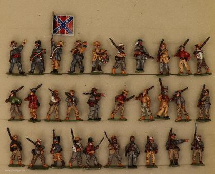 Diverse Hersteller: Ragged Rebels - Südstaaten-Infanterie, 1861 bis 1865