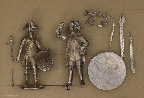 Verschiedene Hersteller: Zwei Militärmusiker, 1712 bis 1786