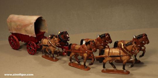 Diverse Hersteller: Planwagen mit 6 Zugpferden, ab 1600
