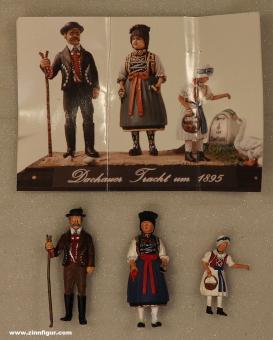 Diverse Hersteller: Familie in Dachauer Tracht 1895, 1871 bis 1918