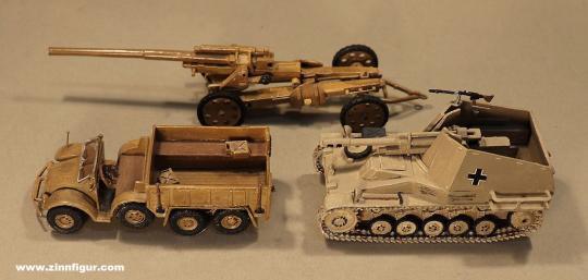 Herst.unbekannt: Drei deutsche Militärmodelle aus Metall, 1939 bis 1945
