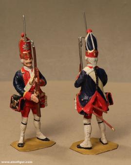Tradition: Riesengrenadier präsentiert das Gewehr, um 1720