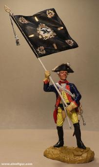 Sieland: Musketier-Fahnenträger des 2. Regiments, 1712 bis 1786