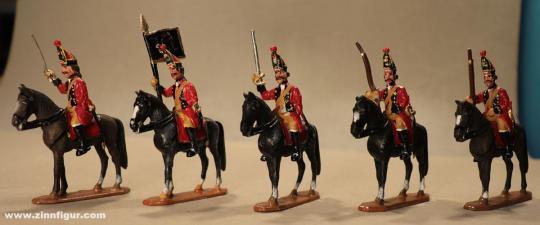Herst.unbekannt: Grenadiere zu Pferd im Halt, 1712 bis 1786