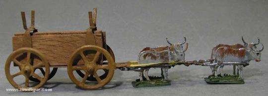 Diverse Hersteller: Holzwagen mit Ochsenbespannung, 1400 bis 1850