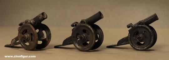 Verschiedene Hersteller: Drei Haubitzen, 1914 bis 1945