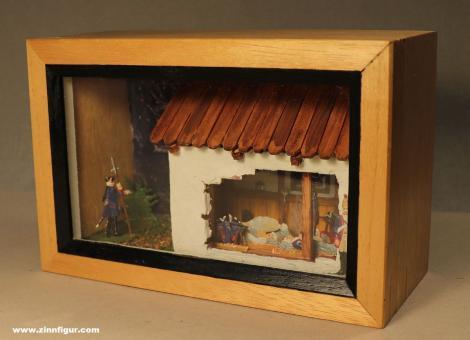 Diverse Hersteller: Diorama: Übernachtung Friedrichs des Großen  im Dorf Ötscher, 1712 bis 1786