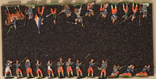 Verschiedene Hersteller: Sammelpackung Linieninfanterie, 1870 bis 1871