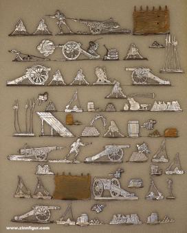 Verschiedene Hersteller: Schlachtfeldzubehör und Kriegsgerät, 1600 bis 1920