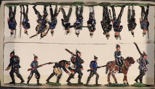 Heinrichsen: Sammelpackung: Infanterie und etrwas Artillerie, 1871 bis 1918