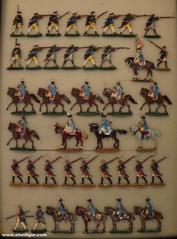 Kieler Zinnfiguren: Sammelpackung Musketiere und Dragoner, 1712 bis 1786