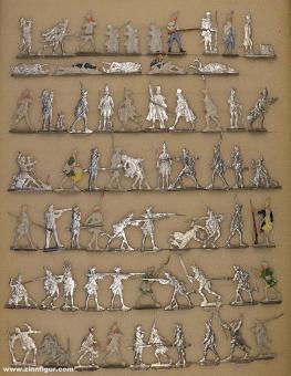 Verschiedene Hersteller: Military foot figures 18th. century, 1712 bis 1786