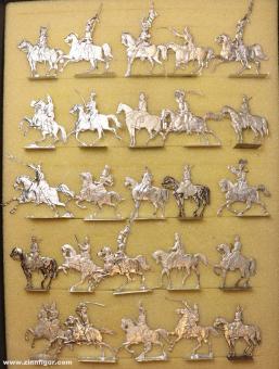 Verschiedene Hersteller: Horsemen in the north german size 33mm, 1815 bis 1870