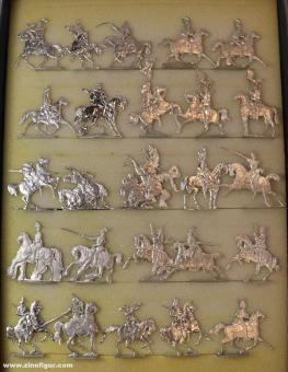 Verschiedene Hersteller: Multipack horsemen in the north german size 33mm, 1815 bis 1870