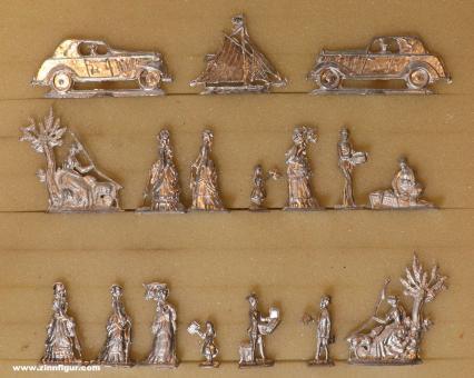 Diverse Hersteller: Figures from old molds, um 1890