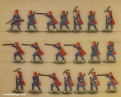 Heinrichsen: Irreguläre Kroaten kämpfend, 1712 bis 1786