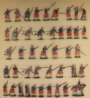 Heinrichsen: Infanterie im Vorgehen, 1870 bis 1871