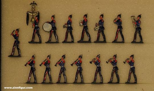 Heinrichsen: Musikkapelle der Infanterie marschierend und spielend, 1871 bis 1914