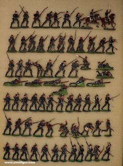 Heinrichsen: Infanterie vorgehend, 1870 bis 1871