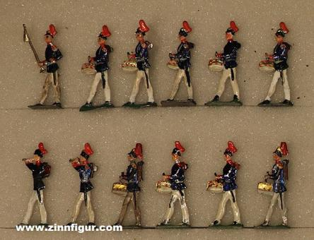 Diverse Hersteller: Fifes and drums marching, 1871 bis 1918
