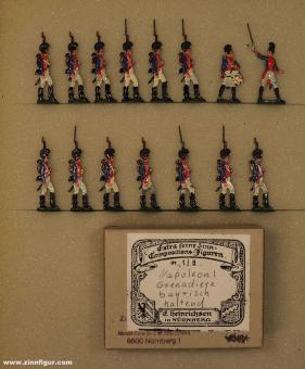 Heinrichsen: Bavarian Grenadiers at the halt, 1804 bis 1815