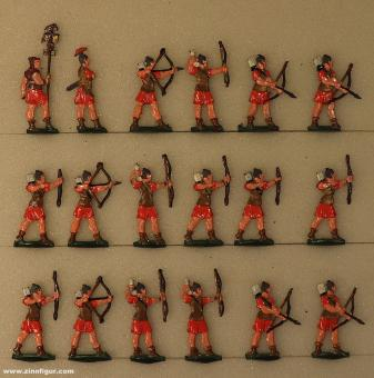Heinrichsen: Roman archers fighting, 6. Jh.v.Chr. bis 6. Jh.