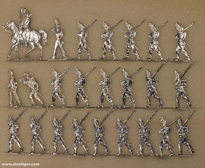 Wegmann ?: Brunswick infantry advancing, 1870 bis 1871