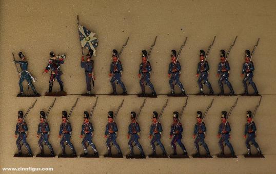 Rieche: Bavarian infantry advancing, 1870 bis 1871