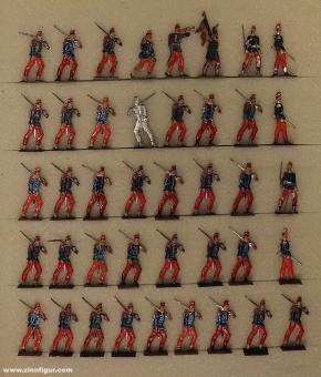 Wegmann ?: Linieninfanterie vorgehend, 1870 bis 1871