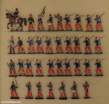 Wegmann ?: Infanterie of the line advancing, 1870 bis 1871
