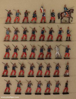 Wegmann ?: Infantry of the line advancing, 1870 bis 1871
