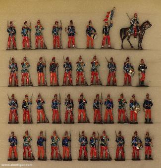 Wegmann ?: Infantry of the line standing at rest, 1870 bis 1871