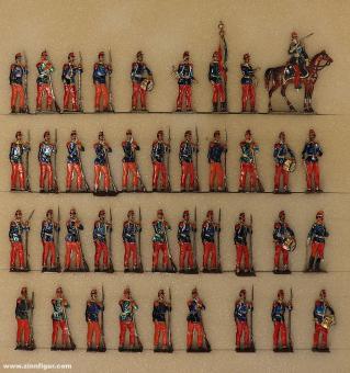 Wegmann ?: Infantry of the line standing waiting, 1870 bis 1871