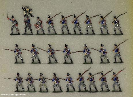 Diverse Hersteller: Musketiers attacking, 1808 bis 1815