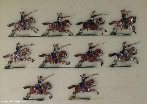 Diverse Hersteller: Cavalry charging, 1900