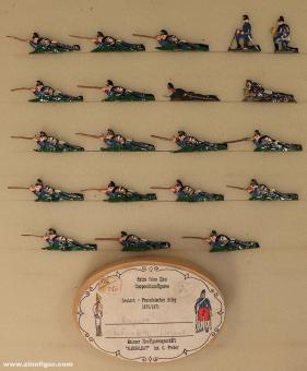 Heinrichsen: Bavarian infantry prone, 1870 bis 1871