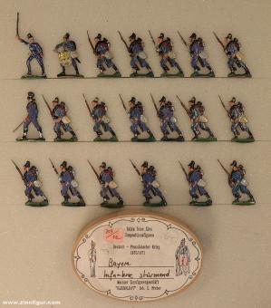Diverse Hersteller: Bavarian infantry attacking, 1870 bis 1871