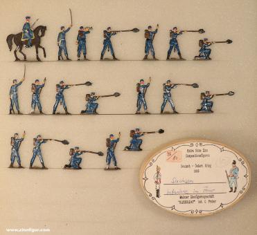 Diverse Hersteller: Saxon Infantry firing 1866, 1866